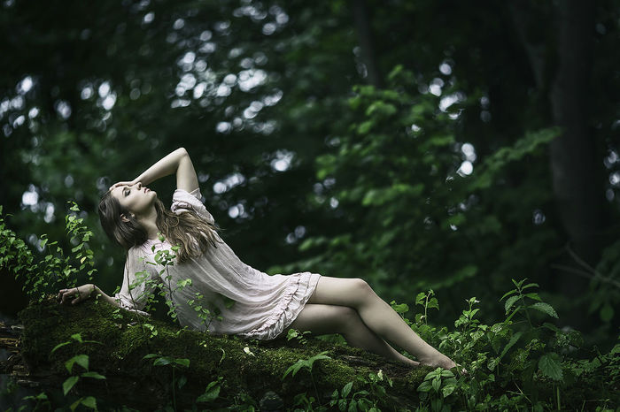 Forest Girl Green Lithuania Lithuania Nature Lithuaniagirl Relaxing Women