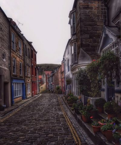 The beautiful cobbled street that leads down to the harbour in Staithes in Yorkshire. Residential Building Architecture Malephotographerofthemonth Atmospheric Mood Photography Is My Escape From Reality! Pattern, Texture, Shape And Form Cobblestones Staithes Yorkshire