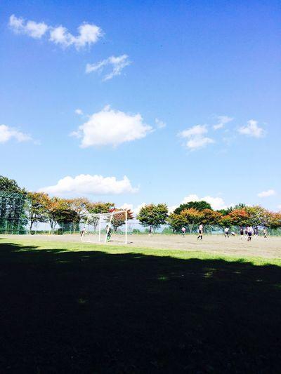 Sky Skycollection Autumn Autumnsky Soccer Landscape Iphonephotography Japan