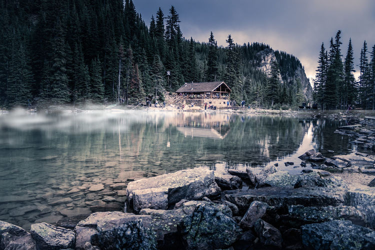Lake Agnes Tea House Water Tree Built Structure Lake Architecture Building Exterior Beauty In Nature Reflection Scenics - Nature Plant House Building Nature Tranquility Tranquil Scene Sky Rock Non-urban Scene Outdoors Lake Agnes Tea House Lake Agnes Banff National Park  My Best Photo