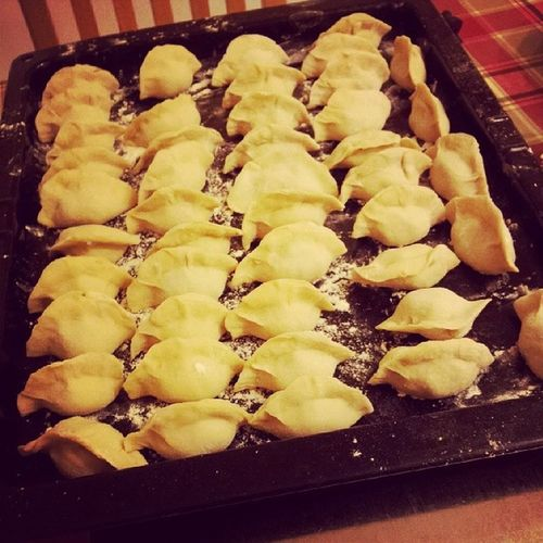 Bringing in the New Year with typical Asian style! Dumplings Soasian Delicious Yummy