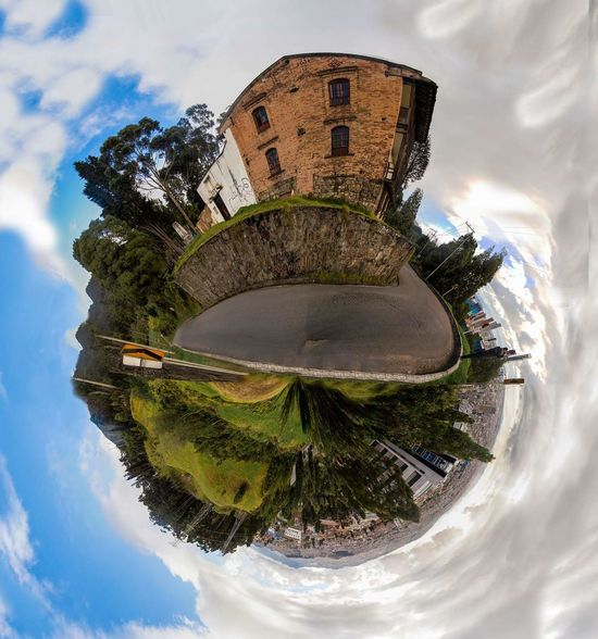 Miniplanete Miniplanet Street World Miniworld World Of Color Miniplanet Walking Travel Destinations Architecture Cloud - Sky Sky Outdoors City Tree Water No People Distorted Image Day