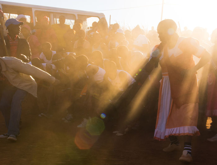 African Tribe Colors Dance Wedding Africa Enjoyment Large Group Of People Zulu