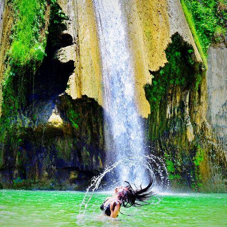 "Checked this off my ""waterfall"" bucketlist. This is worthy of being my first photo here. hah! 🏊 Summer Beautiful Nature Waterfalls Adventure ChasingWaterfalls First Eyeem Photo Make Magic Happen"