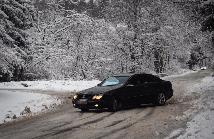CLK drifting Car Motor Vehicle Mode Of Transportation Transportation Land Vehicle Snow Winter Cold Temperature Day Outdoors