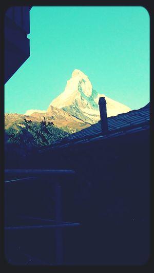 Zermatt Workin Hard Beautiful Sunset Amazing View