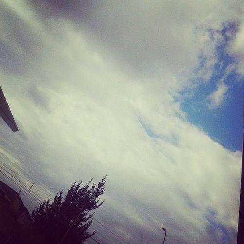 Nubladooo *0* ☁☁☁☁☁ 💧☔ Nublado Invierno Inverno Frio Cielo Heaven Tarde  Instalike Instamoments Ilovecold