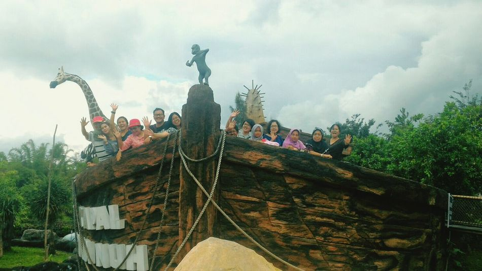 We are on the replica of noah ship