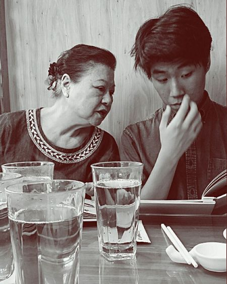 My Mother My Son Birthday Girl 81 Drinking Glass Cantonese Restaurant Bnw_collection Bnwphotography Bnwsingapore Bnw_society Bnw_life Bnwshotz Singaporestreetphotography Streetphotography