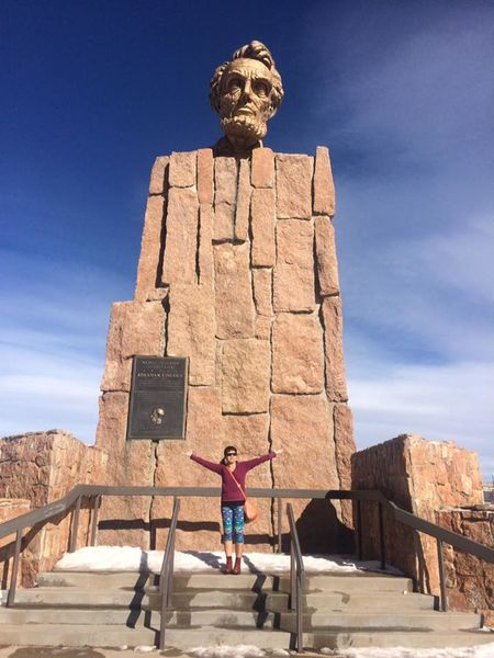This is the Lincoln Monument here in Wyoming which we had visited many times throughout our travel to Nebraska. Lincoln Monument Ancient Architecture Building Exterior Built Structure Day Full Length History Human Representation Lifestyles Low Angle View Male Likeness Nature Old Ruin One Person Outdoors People Real People Sculpture Sky Standing Statue Sunlight Travel Destinations