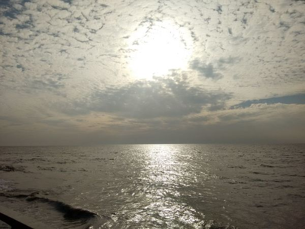 Beauty In Nature Calm Cloud Cloud - Sky Horizon Over Water Idyllic Nature No People Non-urban Scene Outdoors Reflection Remote Rippled Scenics Sea Sea And Sky Seascape Sky Sun Sunbeam Sunlight Sunset Tranquil Scene Tranquility Water