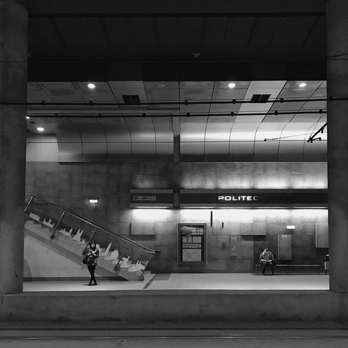 Public Transportation Men City City Life Staircase Lighting Equipment Subway Station Mode Of Transportation Ceiling Lifestyles People Travel Rail Transportation