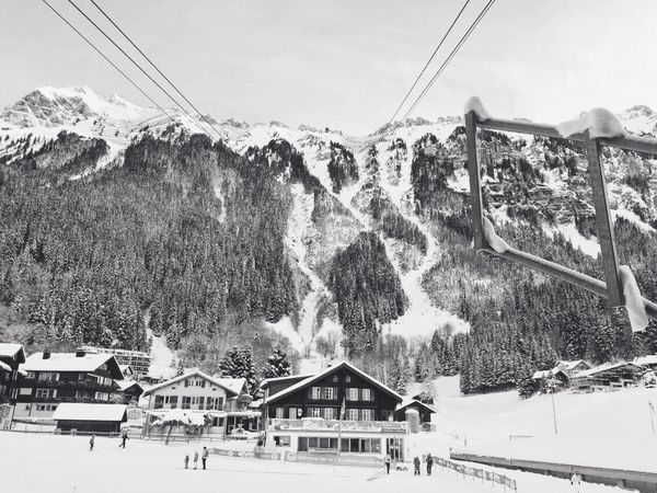 Wengen Winter Snow Sports Architecture Winter Mountain Snow Built Structure Cold Temperature Building Exterior Day Nature Sky Cable Car Cable Outdoors Ski Resort  Transportation House Building