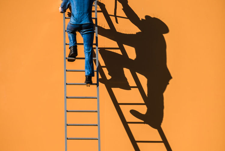 Ladderman Berlin Berlin Photography Cityexplorer Climbing Day Ladder Light And Shadow Low Section Outdoors Shadow Shadowplay Silhouette Sunlight Urbanphotography