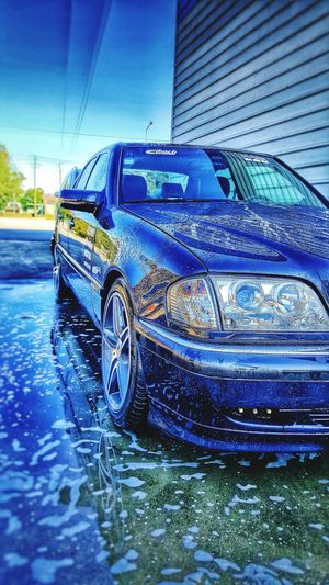 Mercedes AMG W202 Clean Water Car Reflection