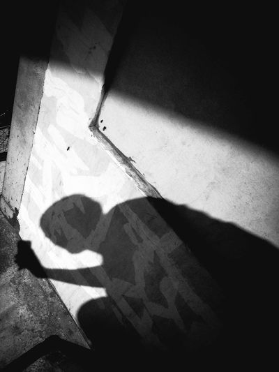 Include your self in the picture. Blackandwhite Dark EyeEm EyeEm Pampanga Eyeem Philippines Focus On Shadow Lifestyles Outdoors Selfie Shadow Shadows & Lights ShootTheDay Sunlight Sunny Unrecognizable Person