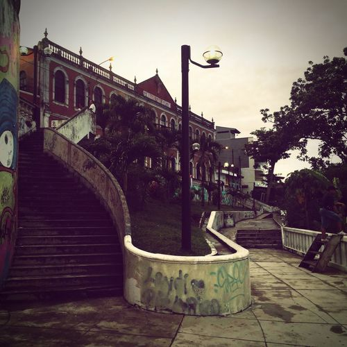 No People Steps Urban Landscape Building Exterior City Afternoon Walk Iquitos  Boardwalk Outdoors Peru Traveling Light Pole This Is Latin America
