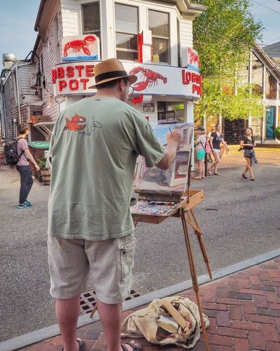 Provincetown Painter, Summer '16 Painterly Effect Painterly Streetview Streetphoto Streetphotography Outdoors Cape Cod Olympus OM-D EM-1 Snapseed Enlight Provincetown  PTown