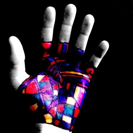...|- D Γ Λ Ψ Ν -|... Colorsplash Blackbackground Color Hand Drawning Bright Colors Sharpie Sharpie Art