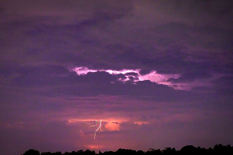 Striking force. Lighting Storm Cloud Tropical Storm Thunderstorms Horizon Over Land Ubud, Bali Thunderbolt Electrifying Sky Perspectives On Nature