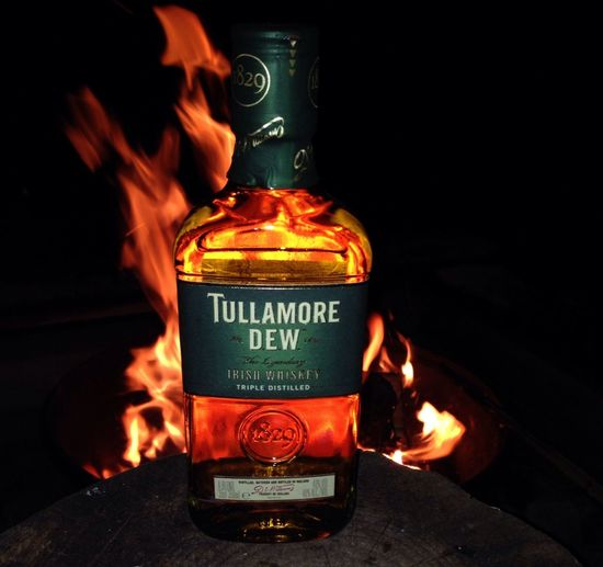 Whiskey Enjoying A Campfire Tullamore Dew Nofilter