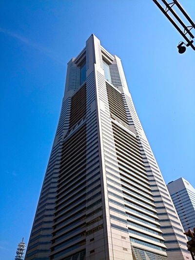 Yokohama Landmark Tower Architecture Blue Building Building Exterior Built Structure City City Life Clear Sky Day EyeEm Best Shots Low Angle View Modern Office Building Sky Skyscraper Sunny Tall Tall - High Tower Yokohama Landmark Tower Travel