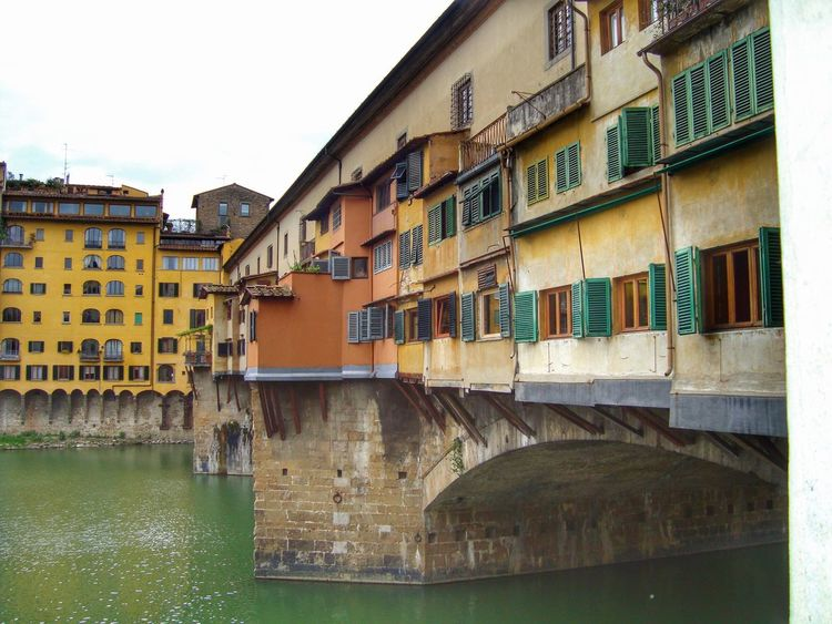 Ponte vecchio Architecture Building Exterior Built Structure Water Window Waterfront Canal Day Outdoors Residential Building No People City Sky Florence Italy Bridge