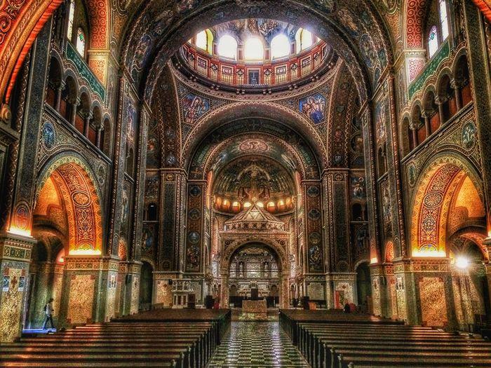 Szeged Hungary Church HDR Discipline Ornate Cross Faith Architecture Religion Dom