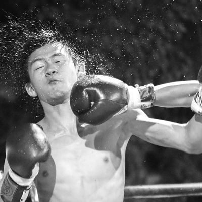 Last shot Boxing Igthailand Instadaily Photooftheday Blackandwhite 7DmkII Knockout Splash