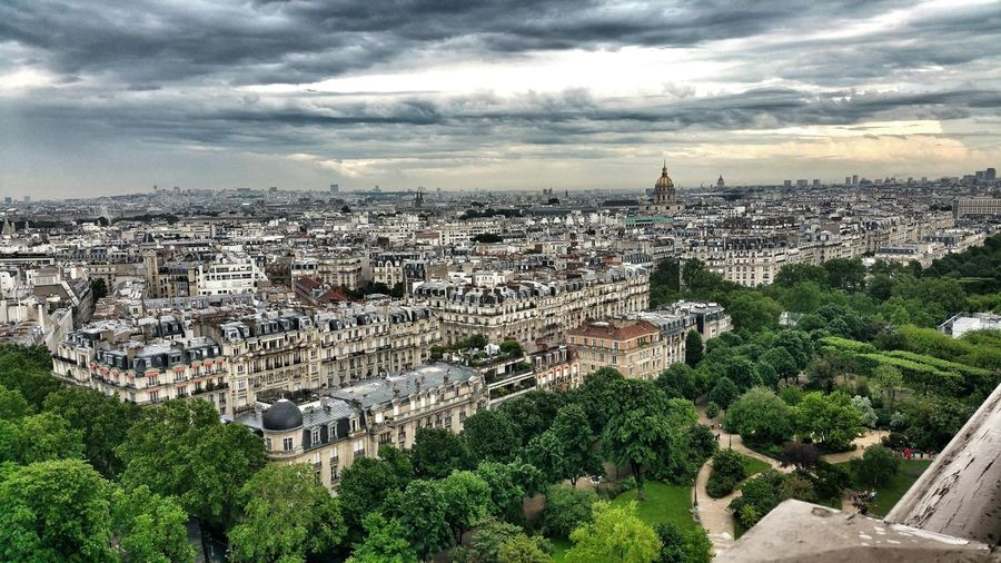 Paris Eiffeltowerview Champsdumars France Toureiffel