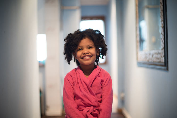 Tamia Childhood Close-up Day Elementary Age Focus On Foreground Front View Happiness Indoors  Leisure Activity Lifestyles Looking At Camera One Person Portrait Real People Smiling Standing
