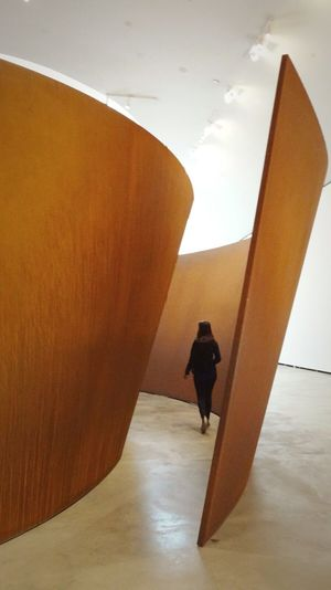 Lost in The Matter Of Time by Serra Richard Serra Richard Serra - La Matière Du Temps Modern Art Guggenheim Bilbao SPAIN Showcase March Ladyphotographerofthemonth Modern Art Metal Sculpture Basque Country Lost In The Middle Of Nowhere Women Who Inspire You Photography In Motion Telling Stories Differently The Architect - 2016 EyeEm Awards Feel The Journey Original Experiences Fine Art Photography People And Places