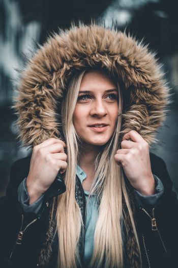 The north face Young Adult Portrait One Person Beauty One Young Woman Only Young Women Beautiful Woman Headshot Focus On Foreground Fashion Gesturing Only Women Beautiful People Lifestyles Adult People One Woman Only Adults Only Women Human Body Part Fur EyeEmNewHere