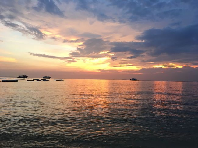 Sunset Sea Water Beauty In Nature Scenics Nature Sky Cloud - Sky Day No People Orange Color EyeEmNewHere