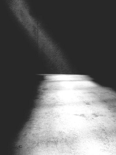 Shadow of sunlight on floor