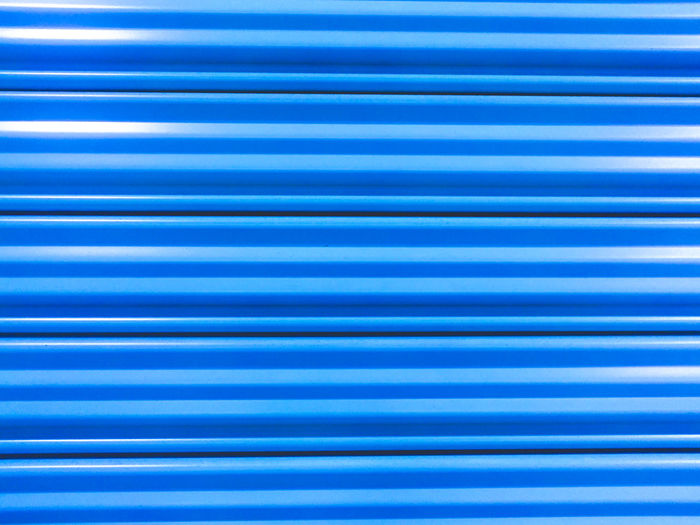 Full Frame Shot Of Blue Striped Pattern
