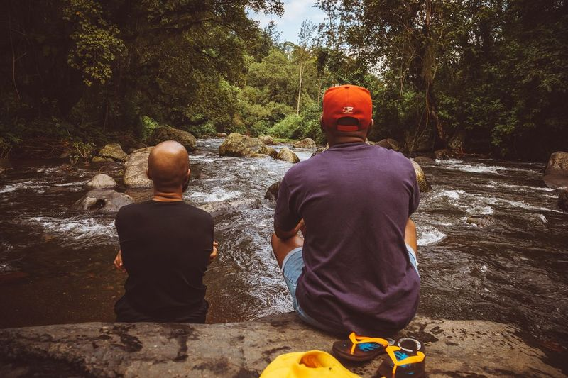 Lads Travel Beautiful Nature Serenity Rear View Men Real People Two People Leisure Activity Tree Nature People Childhood Boys Togetherness Outdoors Lifestyles Casual Clothing Sitting Males  Day The Great Outdoors - 2018 EyeEm Awards