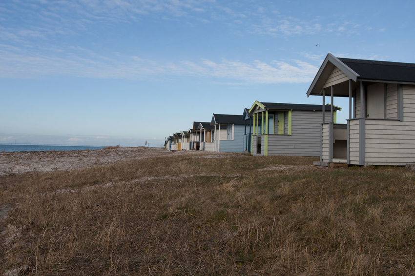 Architecture Beach Boathouses Bridge Building Exterior Built Structure Day Landscape No People Outdoors Scenics Seaside Sweden Tranquil Scene Tranquility