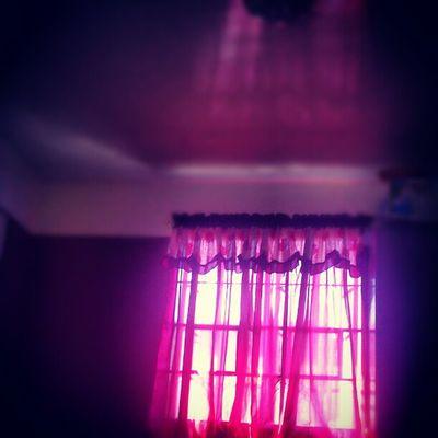 Glowing curtain.