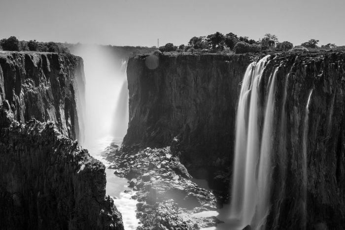Bnw_friday_eyeemchallenge Waterfall unfortunately the Victoriafalls didn't have much Water when we were there