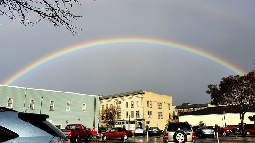 We had the most beautiful rainbows the other day! There was even a hint of a double rainbow! Keep the rainbows coming god! They're beautiful. Rainbow Double Rainbow Humboldt County Street Streetphotography Showcase: January Sky_collection EyeEm Best Shots Urban Landscape