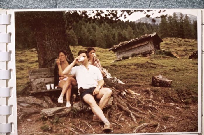 Austria 1975 Holidays on the Alm. Austria Beautiful People Drinking Friendship Grass Melk Myself And I Nature Outdoors People Sitting Summer Women Young Women