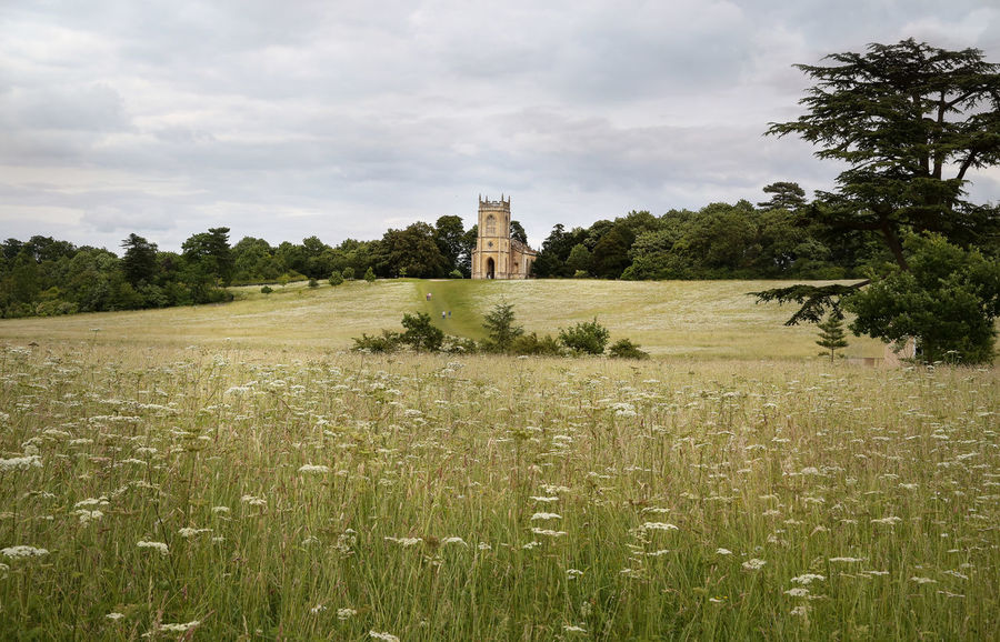 Capability Brown - Architecture Beauty In Nature Building Building Exterior Built Structure Cloud - Sky Day Environment Field Grass Growth History Land Landscape Nature No People Outdoors Plant Sky The Past Tree