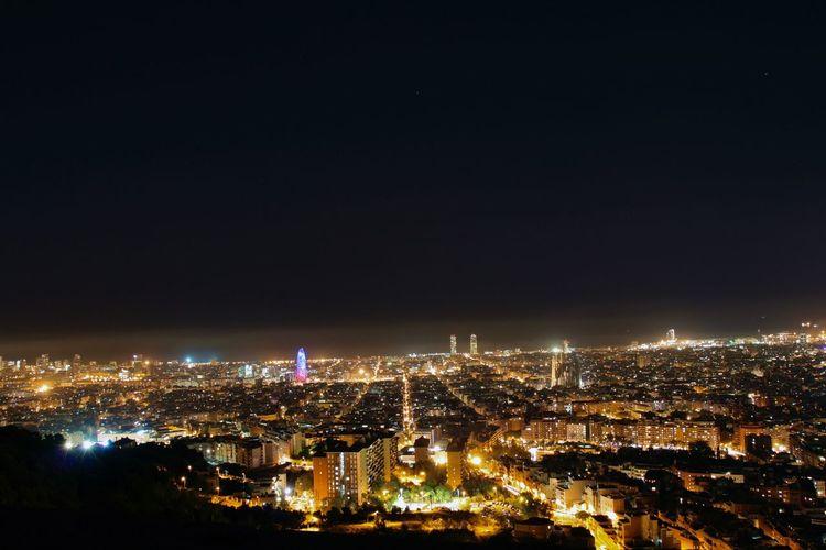 Barcelona At Night Bunkers Del Carmel Catalunya City Lights Cityscape Cityscapes Dark Illuminated Long Exposure Night Night Lights Night Photography Nightphotography Shadows Urban Skyline Viewpoint