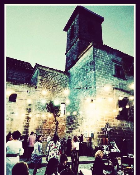Real People Building Exterior Lifestyles City Life Illuminated People Photography Themes Photographing Built Structure Outdoors Nightlife City Taking Photos Travel Destinations Úbeda Iglesia Gótica