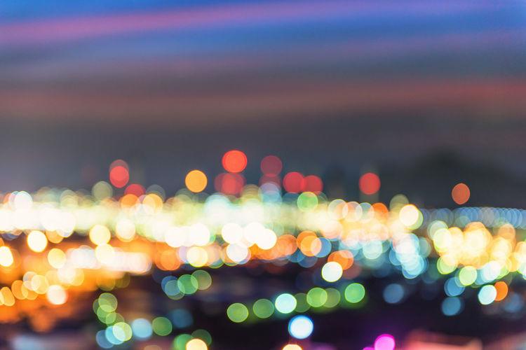 City Bokeh Beautiful Blurred Circle City Light Street Light Twilight Abstract Backgrounds Bokeh Background Bokeh Lights Coloful Color Defocused Glowing Illuminated Night Sky Top View Urban Skyline