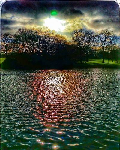 Abingtonpark Sunset .northampton. Lake,park