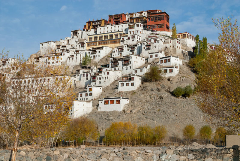 Thiksey monastery India Kashmir Ladakh Architecture Buddhism Buddhist Temple Building Exterior Built Structure Gompa History Monstery No People Old Outdoors Sky Temle Thiksey Thiksey Monastery