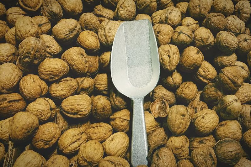 Detail Shot Of Nuts As Background