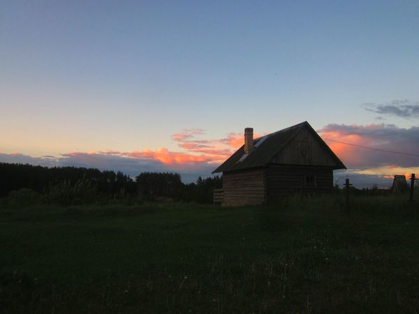 Nature Nature Photography Home Sweet Home Original Photography Beauty In Nature Silhouette Cloud - Sky Building Exterior Sunset Built Structure No People Contry Living Contry Green Summer Landscape Rural Scene